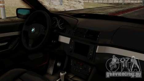 BMW 530D E39 2001 Mtech для GTA San Andreas вид справа