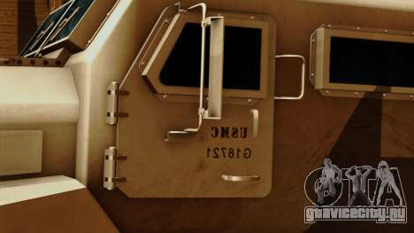 MRAP Cougar 4x4 для GTA San Andreas вид сзади