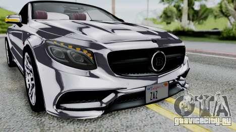 Brabus 850 Chrome для GTA San Andreas вид сбоку