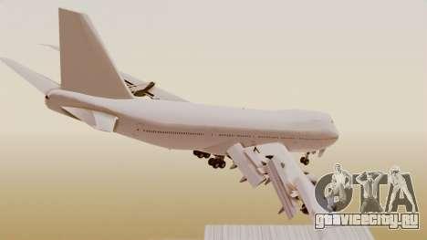 Boeing 747 Template для GTA San Andreas вид слева
