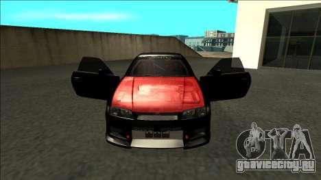 Ниссан Скайлайн Р33 Монстр Энергии для GTA San Andreas вид изнутри