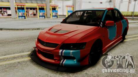 Mitsubishi Lancer Evolution IX MR 2006 для GTA San Andreas вид сбоку