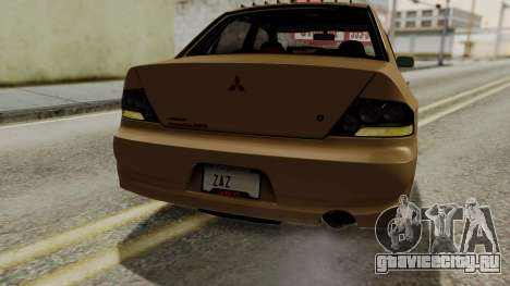 Mitsubishi Lancer Evolution IX MR 2006 для GTA San Andreas двигатель