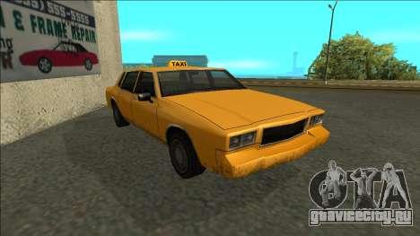 Tahoma Taxi для GTA San Andreas вид слева