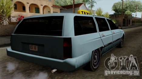 Taxi Solair для GTA San Andreas вид слева