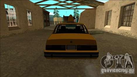 Willard Taxi для GTA San Andreas вид справа