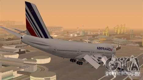 Boeing 747 Air France для GTA San Andreas вид слева