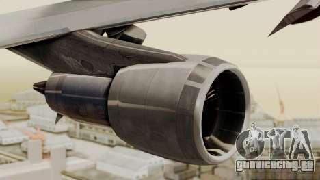 Boeing 747 Template для GTA San Andreas вид справа