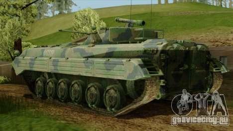 CoD 4 MW 2 BMP-2 Woodland для GTA San Andreas вид слева