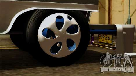 Auto Pormado - Gabshop Custom Jeepney для GTA San Andreas вид сзади слева