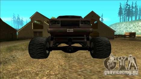 New Yosemite v2 Monster для GTA San Andreas вид справа