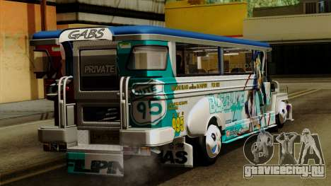 Auto Pormado - Gabshop Custom Jeepney для GTA San Andreas вид слева