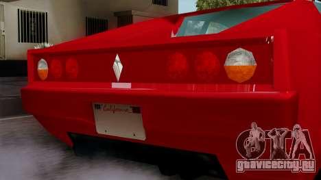 Cheetah from Vice City Stories для GTA San Andreas вид справа