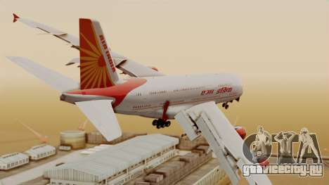 Airbus A380-861 Air India для GTA San Andreas вид слева