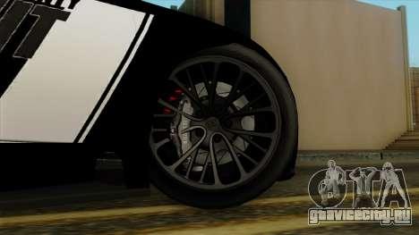 Bugatti Veyron 16.4 2013 Dubai Police для GTA San Andreas вид сзади слева