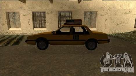 Willard Taxi для GTA San Andreas вид слева