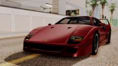 Ferrari F40 1987 without Up Lights HQLM для GTA San Andreas