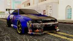 Nissan Skyline R33 Widebody Itasha для GTA San Andreas