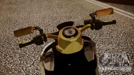 Honda Scoopy New Pink для GTA San Andreas вид сзади слева