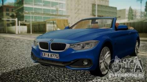 BMW M4 F32 Convertible 2014 для GTA San Andreas