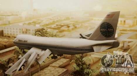 Boeing 747-100 Pan Am Clipper Maid of the Seas для GTA San Andreas вид слева