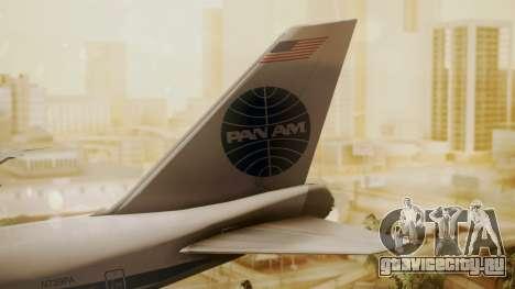 Boeing 747-100 Pan Am Clipper Maid of the Seas для GTA San Andreas вид сзади слева