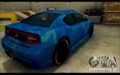Bravado Buffalo Blue Star для GTA San Andreas вид сзади слева