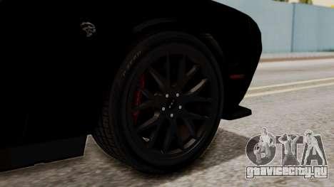 Dodge Challenger SRT Hellcat 2015 IVF для GTA San Andreas вид сзади слева