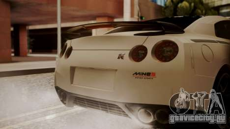 Nissan GT-R R35 2012 v2 для GTA San Andreas вид сзади