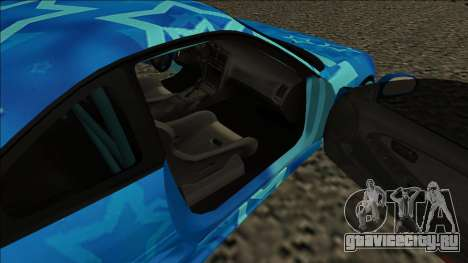 Toyota MR2 Drift Blue Star для GTA San Andreas вид сзади слева