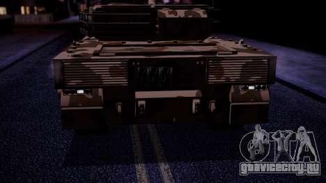 GTA 5 Rhino Tank IVF для GTA San Andreas вид справа