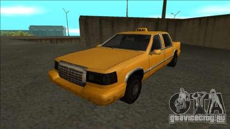 Stretch Sedan Taxi для GTA San Andreas вид сзади слева
