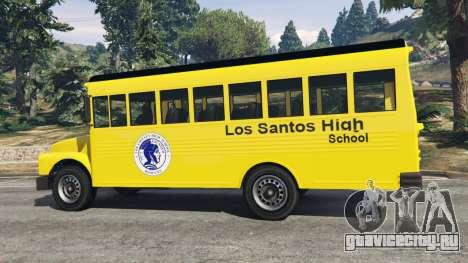 Классический школьный автобус для GTA 5 вид сзади справа
