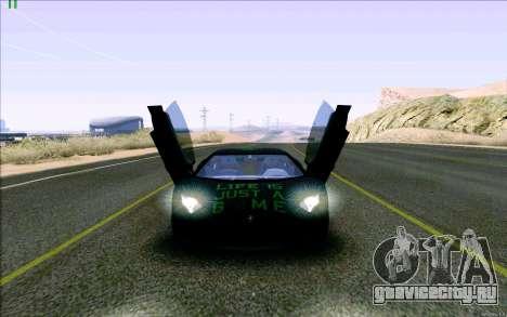 Lamborghini Aventador LP-700 Razer Gaming для GTA San Andreas вид изнутри