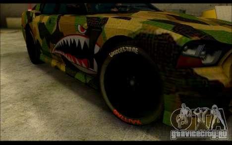 Bravado Buffalo Camo Shark Mouth для GTA San Andreas вид справа