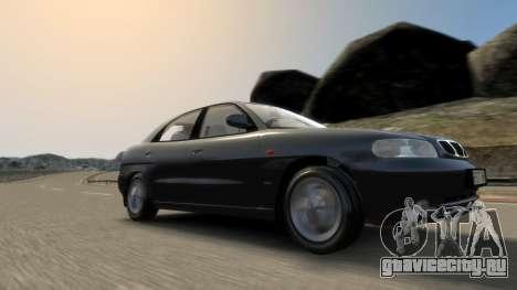 Daewoo Nubira I Hatchback CDX 1997 для GTA 4 вид снизу
