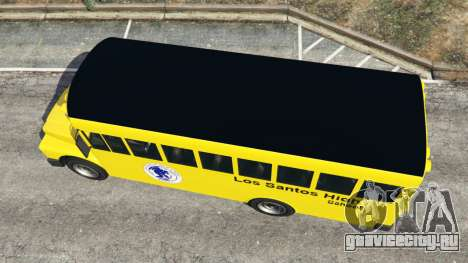 Классический школьный автобус для GTA 5 вид сзади