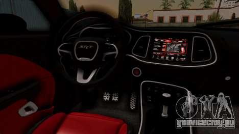 Dodge Challenger SRT Hellcat 2015 IVF для GTA San Andreas вид справа