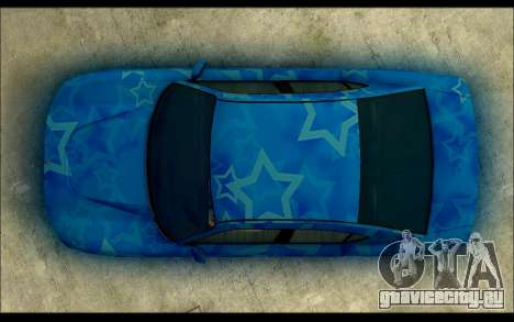 Bravado Buffalo Blue Star для GTA San Andreas вид справа