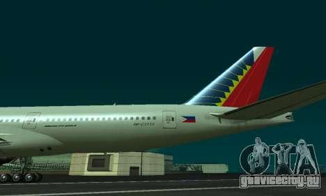 Boeing 777-200LR Philippine Airlines для GTA San Andreas вид справа