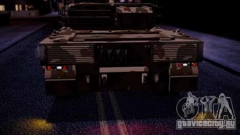 GTA 5 Rhino Tank IVF для GTA San Andreas вид сзади