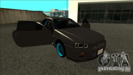 Nissan Skyline R34 Drift Monster Energy для GTA San Andreas вид сбоку