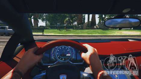 Lamborghini Aventador Police для GTA 5 вид сзади