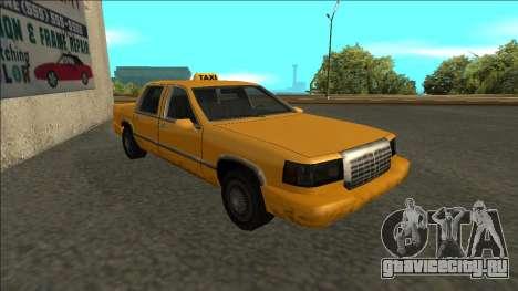 Stretch Sedan Taxi для GTA San Andreas вид слева