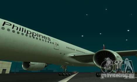 Boeing 777-200LR Philippine Airlines для GTA San Andreas вид слева