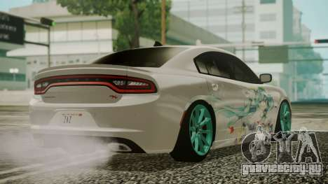 Dodge Charger RT 2015 Hatsune Miku для GTA San Andreas вид слева