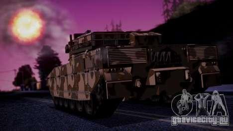 GTA 5 Rhino Tank IVF для GTA San Andreas вид слева