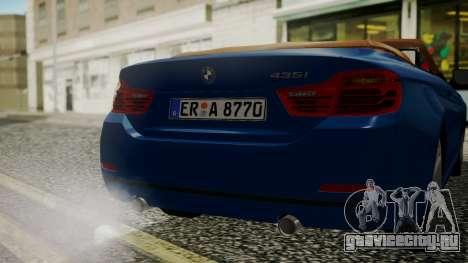 BMW M4 F32 Convertible 2014 для GTA San Andreas вид сбоку