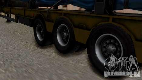 Overweight Trailer Yellow для GTA San Andreas вид сзади слева