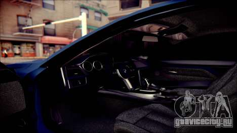 BMW 4 Series Coupe M Sport для GTA San Andreas вид сверху